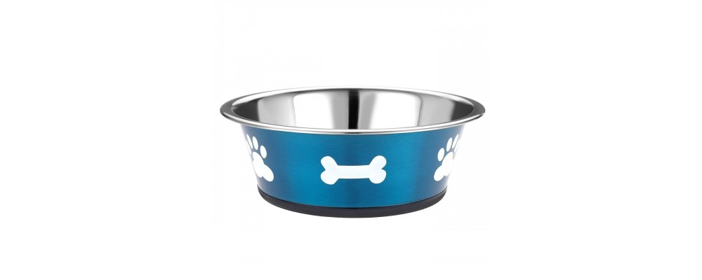 Classic Posh Paws Stainless Steel Dog Dish, 1600ml