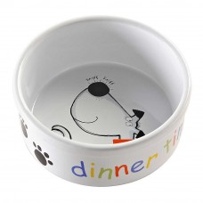 Mason and Cash Stoneware Dinner Time Dog Bowl 15x6.5cm