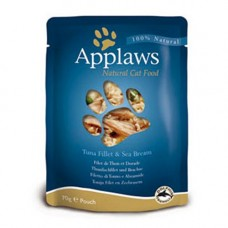 Applaws Tuna Fillet with Seabream Pouch 12x70g