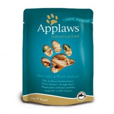 Applaws Tuna Fillet with Whole Anchovy Pouch 12x70g
