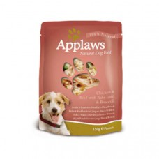 Applaws Dog Pouches Chicken & Beef 12x150g