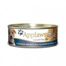 Applaws Cans Chicken Breast with Salmon & Veg 16x156g
