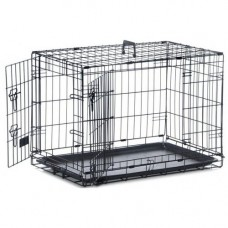 Sharples and Grant Safe N Sound Black Dog Crate, Large