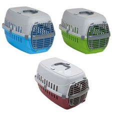 Road Runner Small Plastic Door Pet Carrier Fun Colours