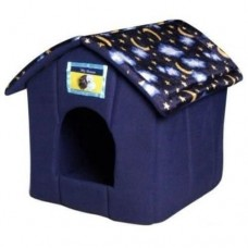 Ancol House Pet Bed - Blue Moon & Stars