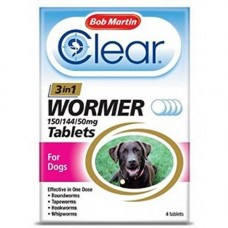 Bob Martin Clear All in One Wormer Tablets (Dogs 0.5-8kg)