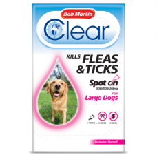 Bob Martin Clear Spot On Large Dog, 1 Flea Tick Treatment