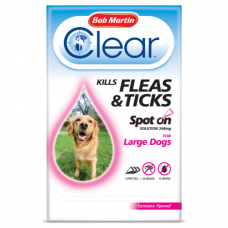 Bob Martin Clear Spot On Large Dog, 3 Flea Tick Treatments