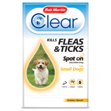 Bob Martin Clear Spot On Small Dog, 1 Flea Tick Treatment