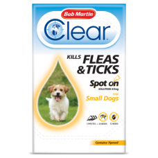 Bob Martin Clear Spot On Small Dog, 3 Flea Tick Treatments
