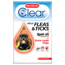 Bob Martin Clear Spot On Ex Large Dog, 3 Flea Tick Treatments