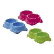 Sharples and Grant Smarty Twin Feeder Bowl 2x14cm Assorted