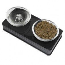 Catit Elevated Twin Glass Diner, Cats / Toy Dogs