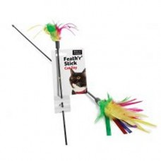 Ruff N Tumble Rainbow Feath R Stick Cat Dangler