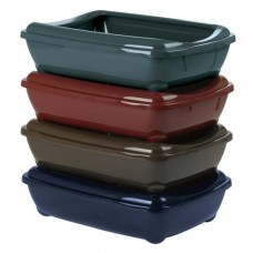 Clean N Tidy Litter Tray with Rim, Classic Colours 42cm