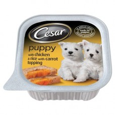 Cesar Puppy with Chicken and Rice 12x100g