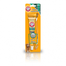 Arm and Hammer Dog Toothpaste 2.5oz and 2 Brush Set