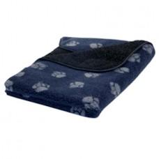 Danish Design  Navy Paw Print Fleece Blanket Small