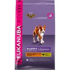 Eukanuba 2x Chicken Medium Breed Puppy Food 12kg (24kg)