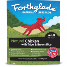 Forthglade Complete Chicken with Tripe and Brown Rice 18x395g