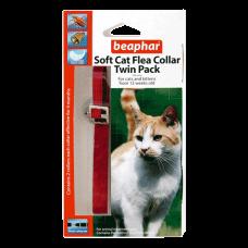 Beaphar Cat Flea Collar Velvet - Twin Pack Red 30cm