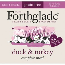 Forthglade Kitten Duck and Turkey GRAIN FREE 12x90g
