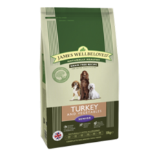 James Wellbeloved GRAIN FREE Senior - Turkey & Veg 10kg