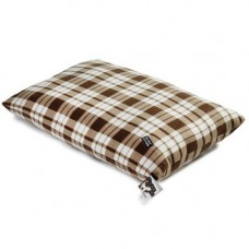 Do Not Disturb Brown Tartan Fleece Mattress 100x150cm