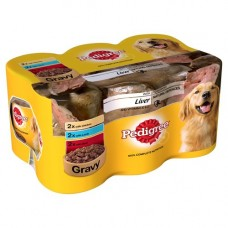 Pedigree Heath Liver in Gravy with Vitamin EandC 6x400g Can