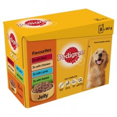 Pedigree Favourites in Jelly 12x100g Pouch