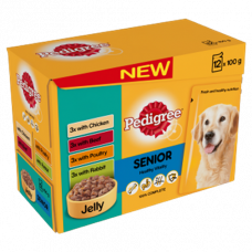 Pedigree Senior Favourites in Jelly 12x100g Pouch