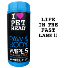 Pet Head Dog Paw and Body Wipes