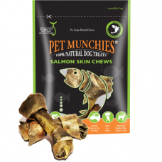Pet Munchies Salmon Skin Dental Chews 125g 100% Natural