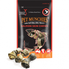 Pet Munchies Salmon Skin Dental Chews 90g 100% Natural