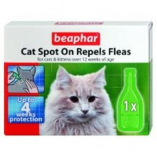 Beaphar Cat Spot On Repels Fleas 1 Tube 4wk