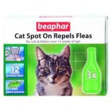 Beaphar Cat Spot On Repels Fleas 3 Tube 12wk
