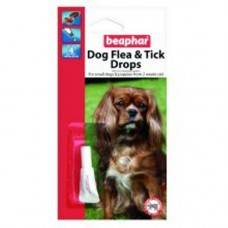 Beaphar Small Dog Flea and Tick Drops 1 Tube 4 Wk