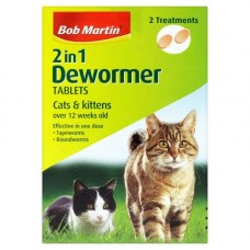 Bob Martin Clear Cat and Kitten Wormer, 2 Tablets