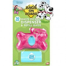 Bags On Board Dispenser Pink