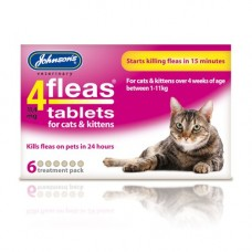 Johnsons 4-Fleas 6 Tablet Pack, Cats and Kitten