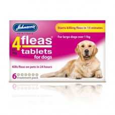 Johnsons 4-Fleas 6 Tablet Pack, Large Dogs