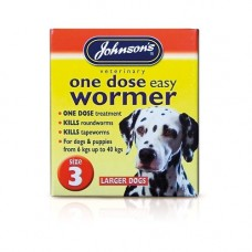 Johnsons One Dose Easy Wormer 4x500mg Tablets, Large