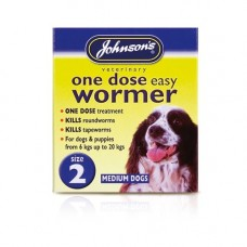 Johnsons One Dose Easy Wormer 2 x 500mg Tablets, Medium Dog