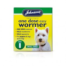 Johnsons One Dose Easy Wormer 3 x 100mg Tablets, Small Dog