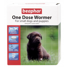 Beaphar One Dose Wormer Dog and Puppy Up to 6Kg - 6 Tablets