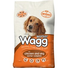 Wagg Worker Complete Chicken and Veg 17kg VAT FREE