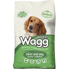Wagg Worker Complete Beef & Veg 17kg VAT FREE