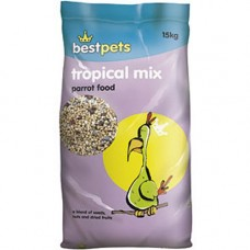 Bestpets Tropical Mix Parrot  Food 15kg