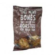 Woof and Chew Mini Beef Bones 2 Pack