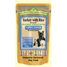James Wellbeloved Puppy/Junior Pouch Turkey 150g x10